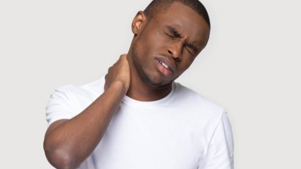 Guy with neck pain